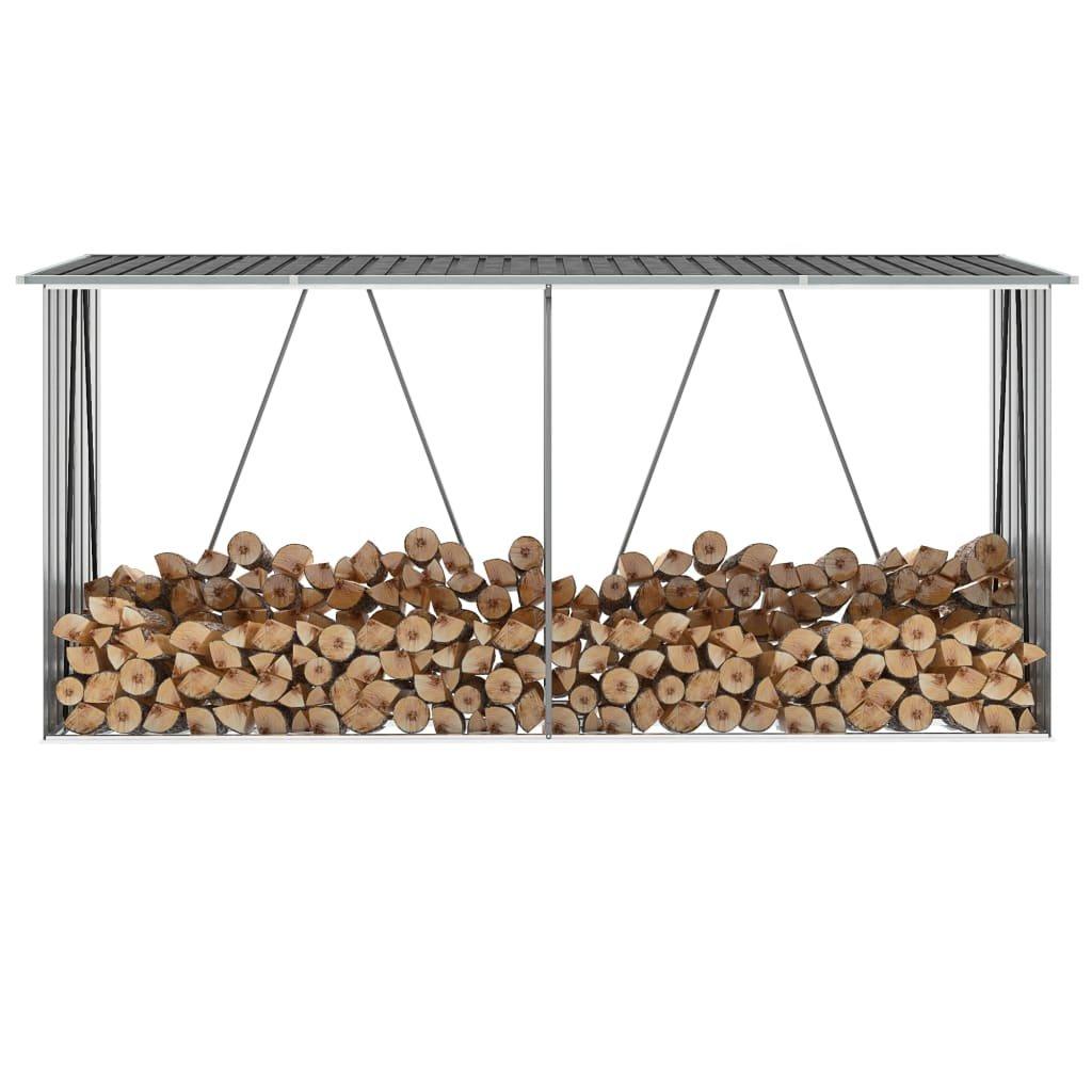 Zahradní kůlna Hendy na dříví - antracit | 330x84x152 cm