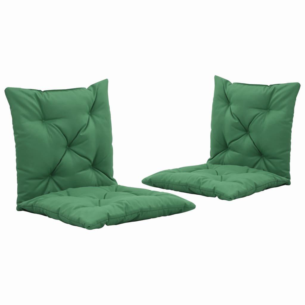 Podušky pro závěsné houpací křeslo - 2 ks - zelené   50 cm