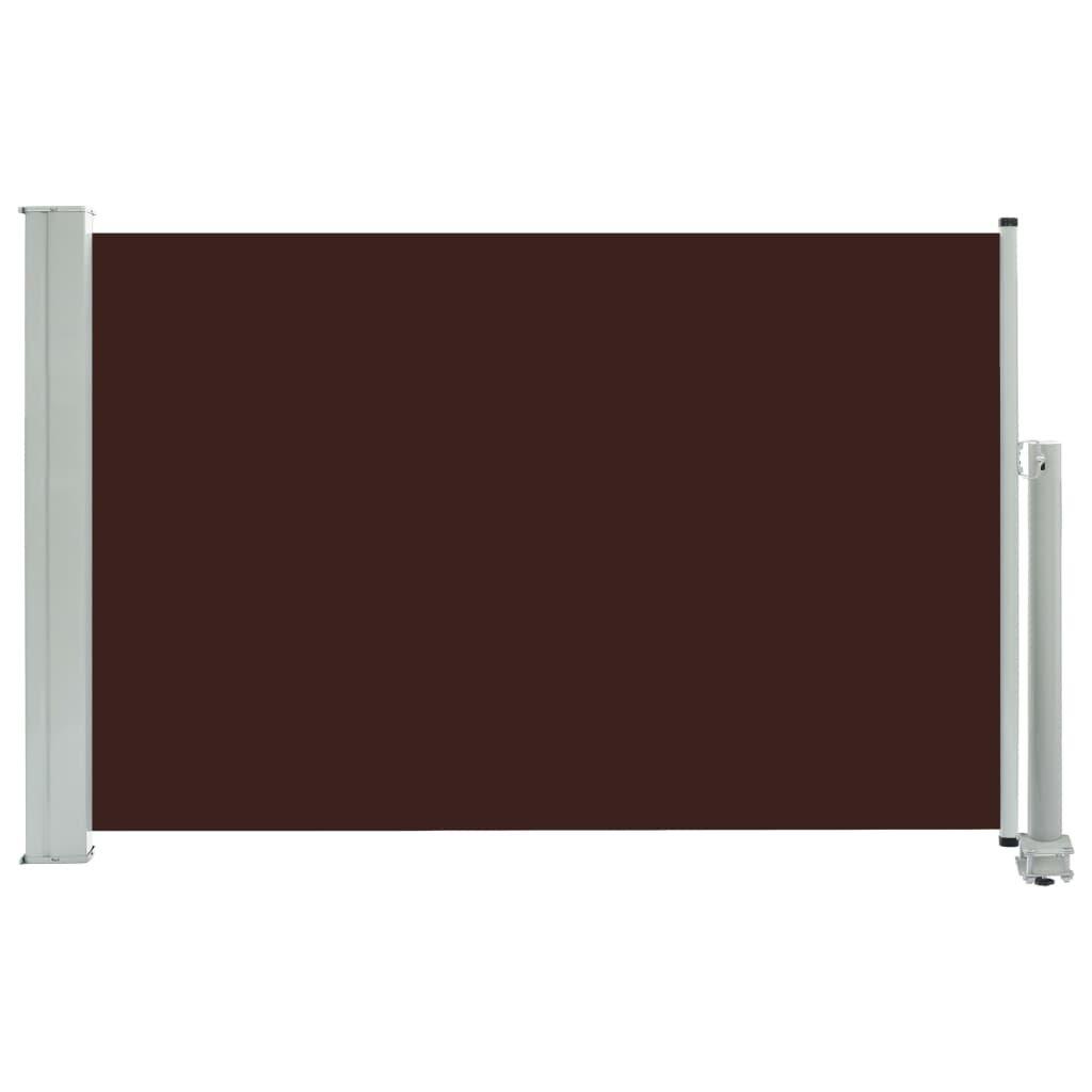 Zatahovací boční markýza/zástěna na terasu Ash - hnědá | 60x300 cm