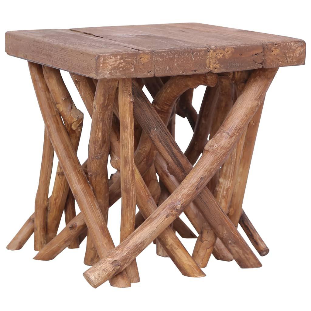 Konferenční stolek Petrys z větví - masivní dřevo | 40x40x40 cm