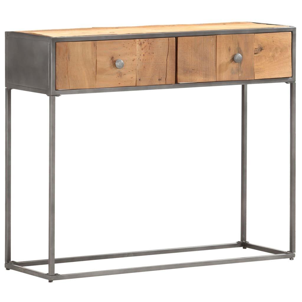 Konzolový stolek Bexley - masivní recyklované dřevo | 90 x 30 x 75 cm