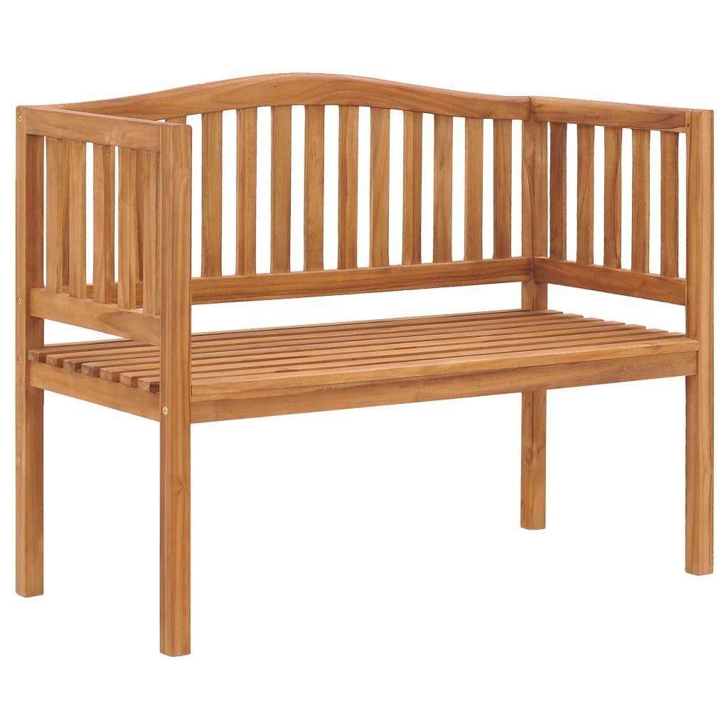 Zahradní lavice Alicia - masivní teakové dřevo | 120 cm