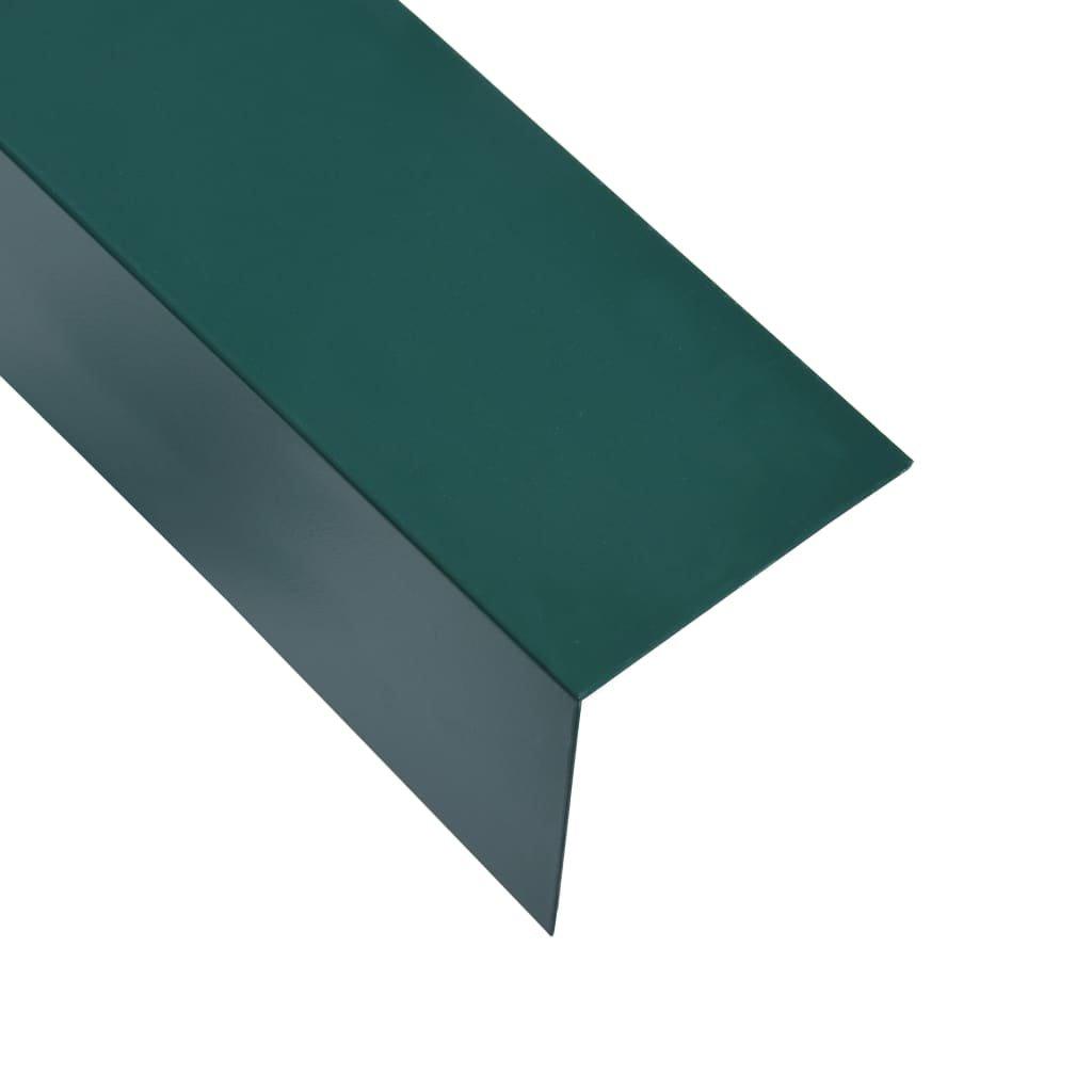 Úhlové lišty ve tvaru L - 5 ks - hliník - zelené | 170 cm - 30x30 mm