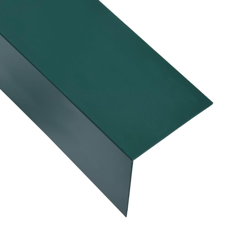 Úhlové lišty ve tvaru L - 5 ks - hliník - zelené   170 cm - 50x50 mm