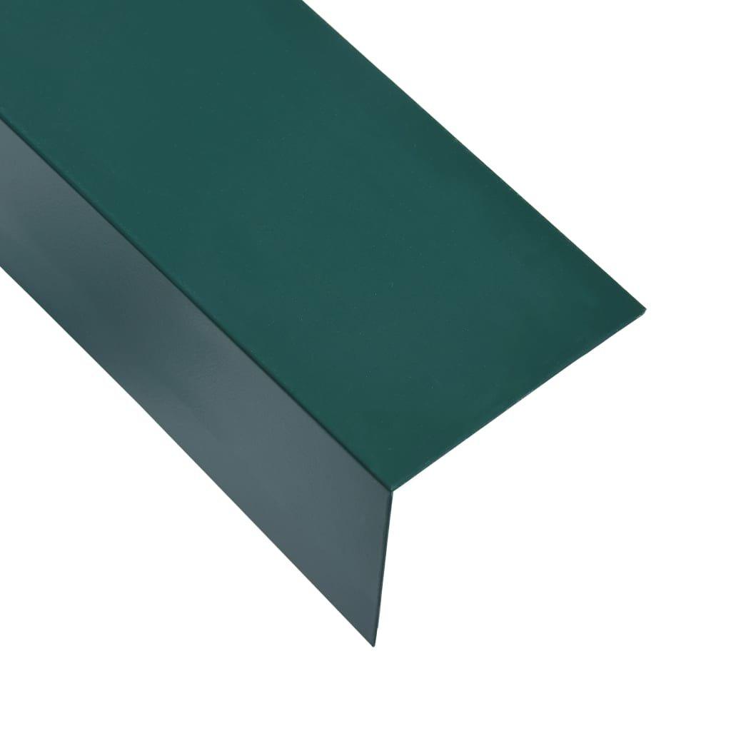 Úhlové lišty ve tvaru L - 5 ks - hliník - zelené | 170 cm - 100x50 mm
