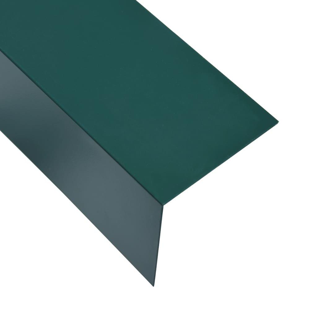 Úhlové lišty ve tvaru L - 5 ks - hliník - zelené | 170 cm - 100x100mm