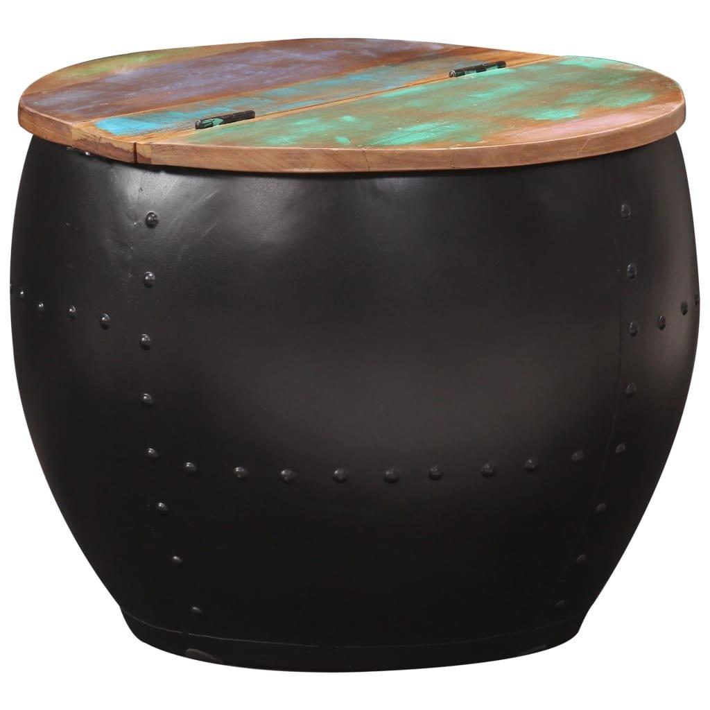 Konferenční stolek Seeky - 53x43 cm - černý | masivní akáciové dřevo
