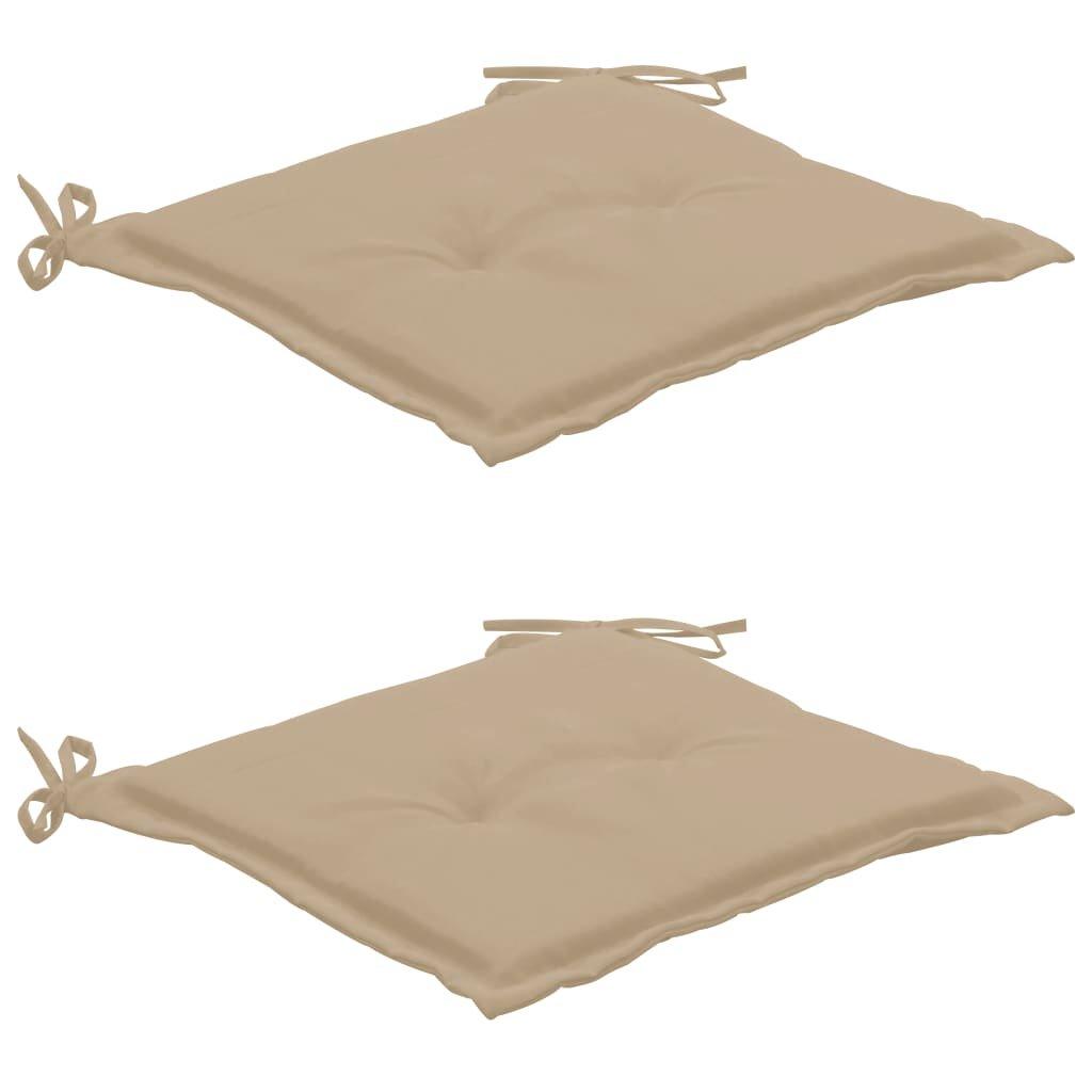 Podušky na zahradní židle 2 ks - 50 x 50 x 3 cm   béžové