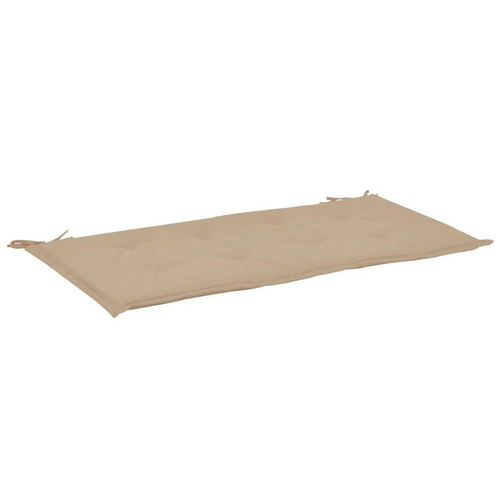 Poduška na zahradní lavici - béžová   100x50x3 cm