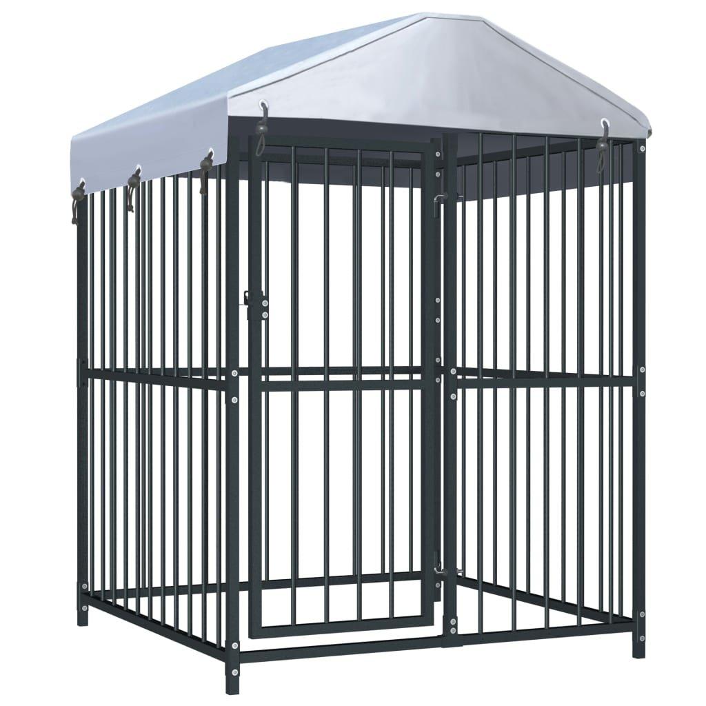 Venkovní psí kotec Stonies se střechou | 120x120x150 cm