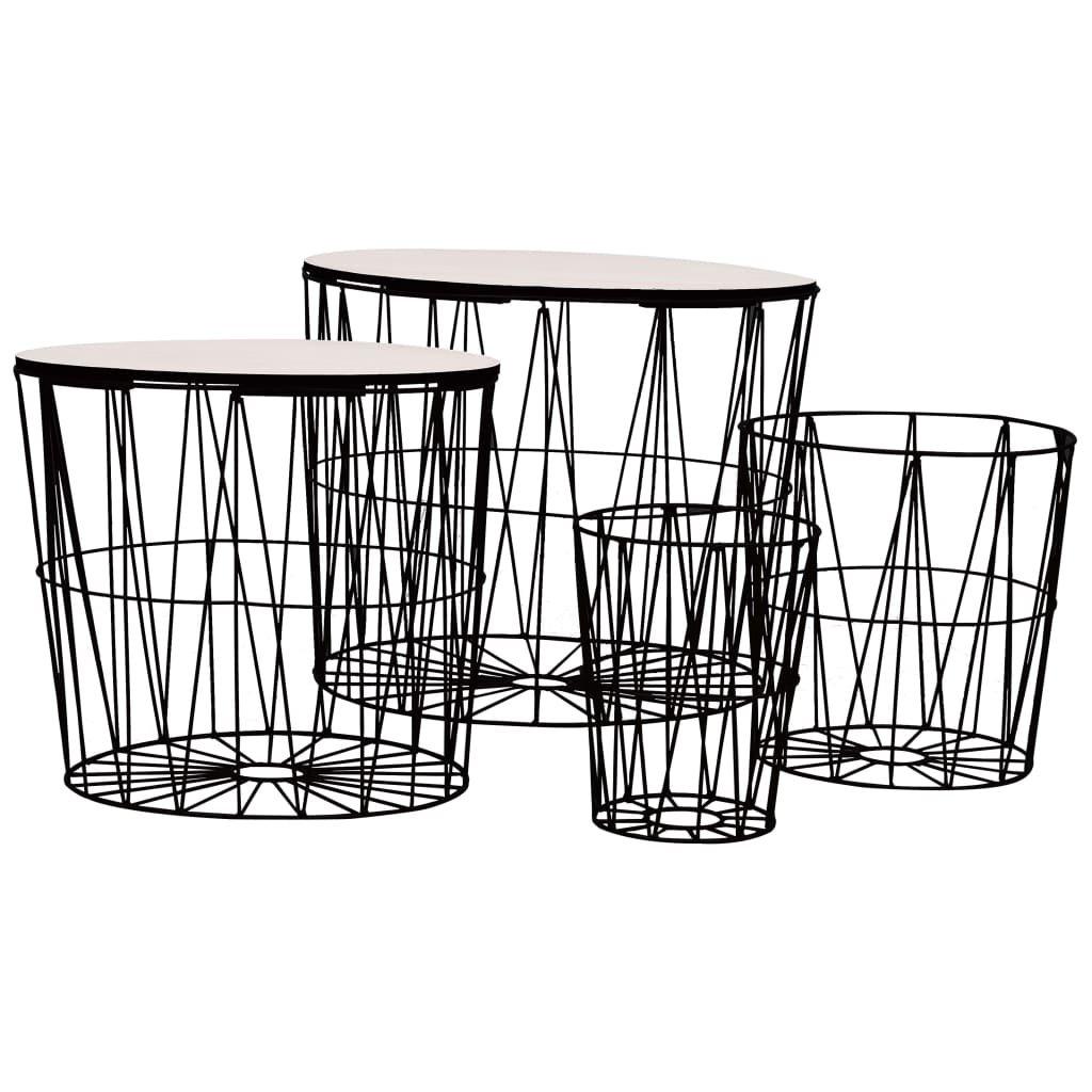 Konferenční stolek Montague - 4 ks | černé