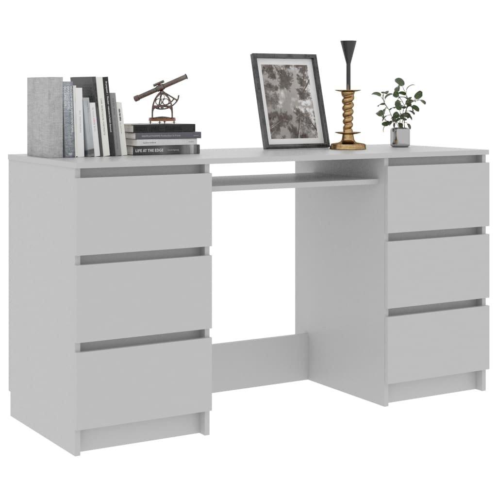 Psací stůl Nathan - šedý | 140x50x77 cm