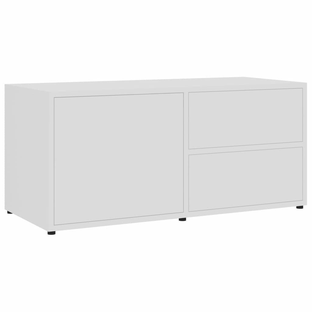 TV stolek Lewisham - dřevotříska - 80 x 34 x 36 cm   bílý
