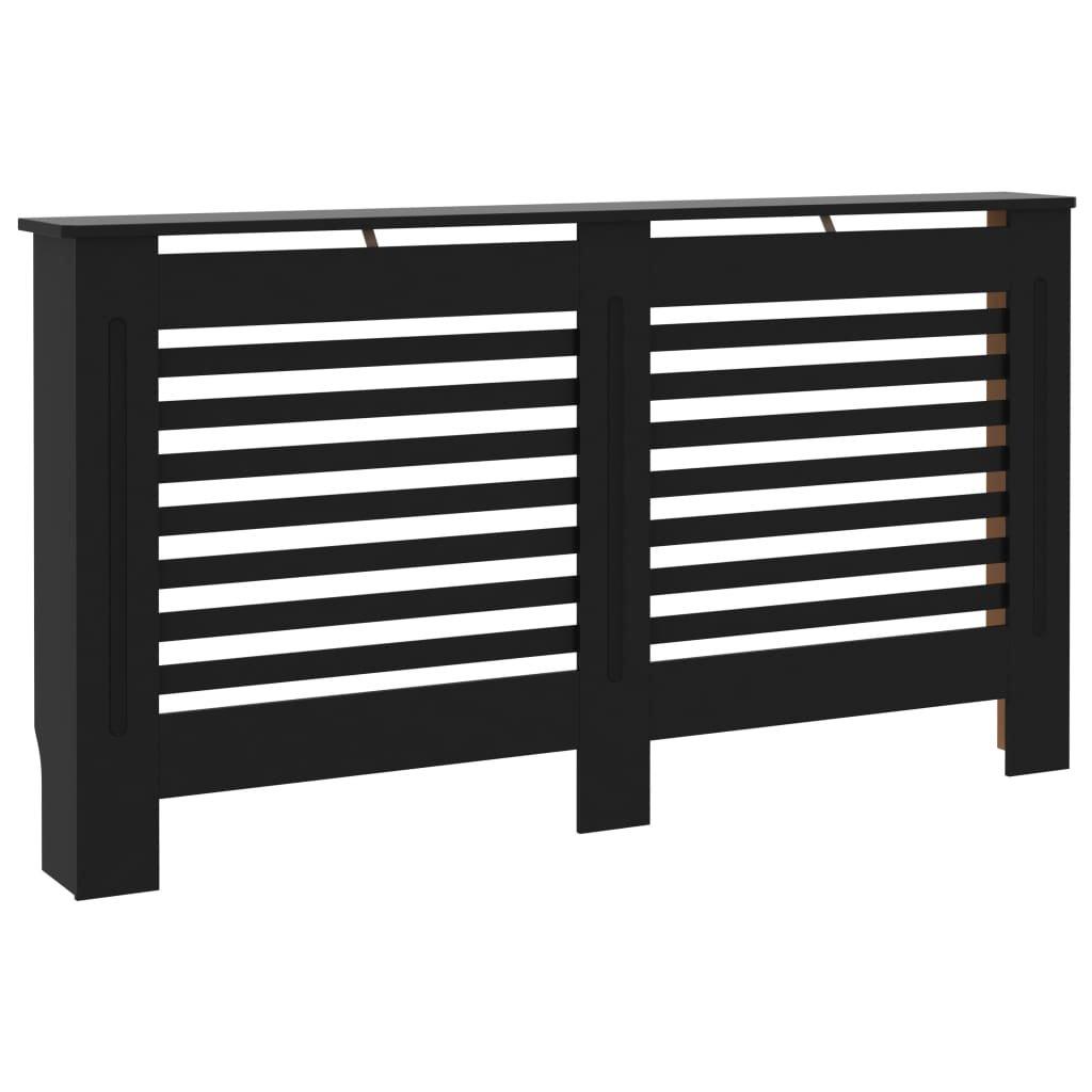 Kryt na radiátor - MDF - černý | 152x19x81 cm