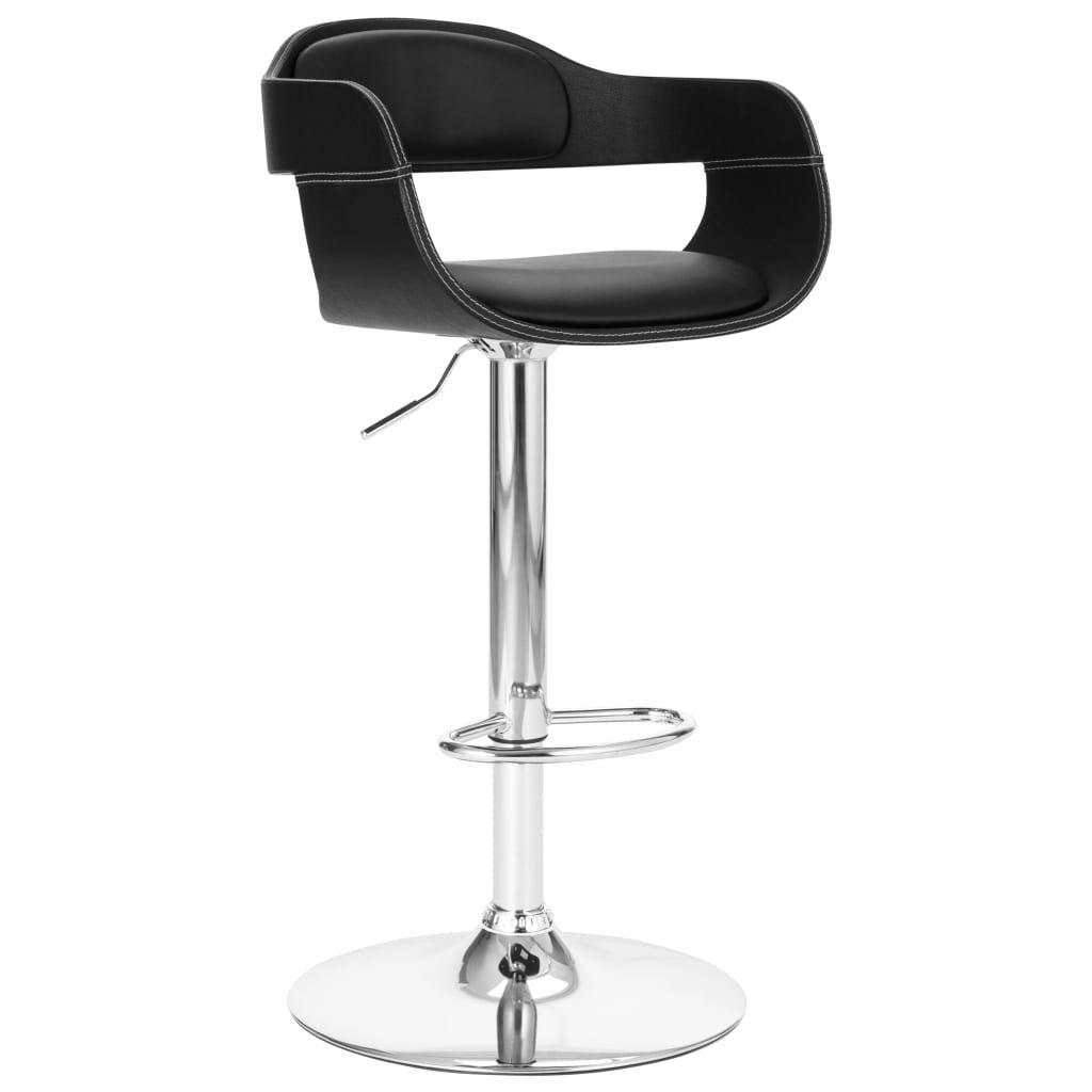 Barová židle Wilber - umělá kůže   černá