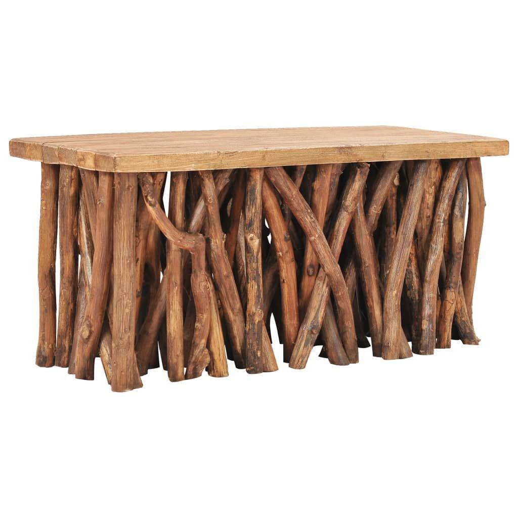 Konferenční stolek Margaret - 100x40x40,7 | masivní recyklované dřevo a teak