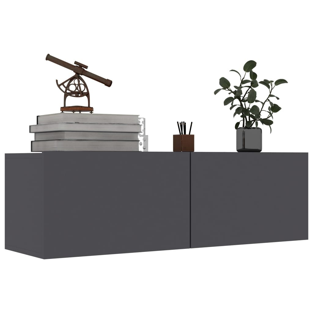 TV stolek Sunset - šedý | 100x30x30 cm