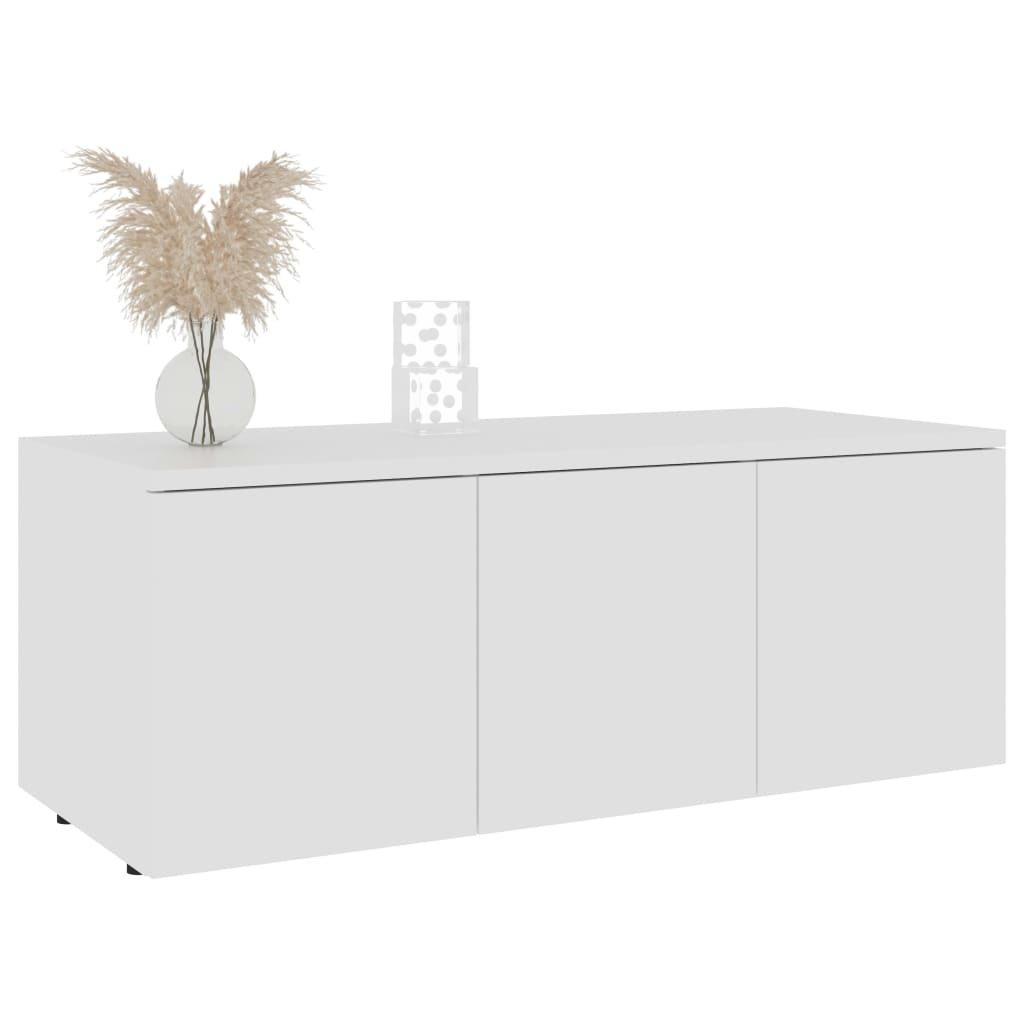 TV stolek Argem - bílý | 80x34x30 cm