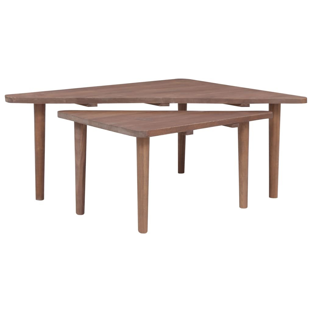 Konferenční stolky Stever - 2 ks | masivní teakové dřevo