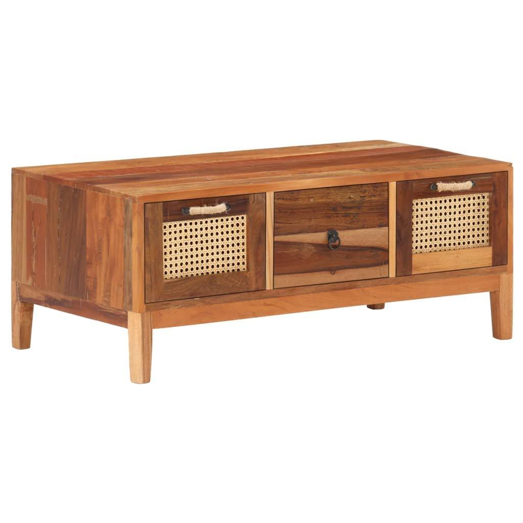 Konferenční stolek Rasha - masivní recyklované dřevo | 100x50x40 cm