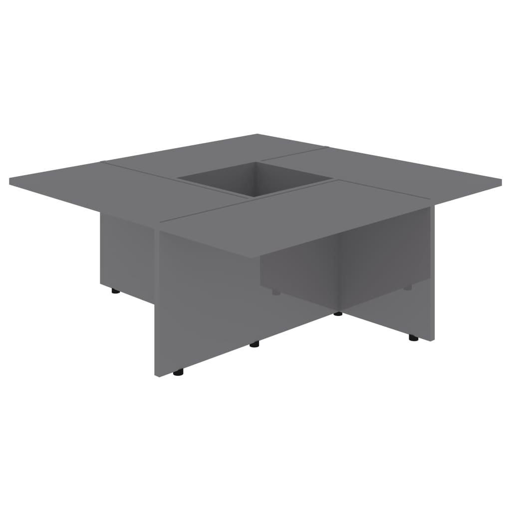Konferenční stolek Chadron - 79,5 x 79,5 x 30 cm   vysoký lesk šedý
