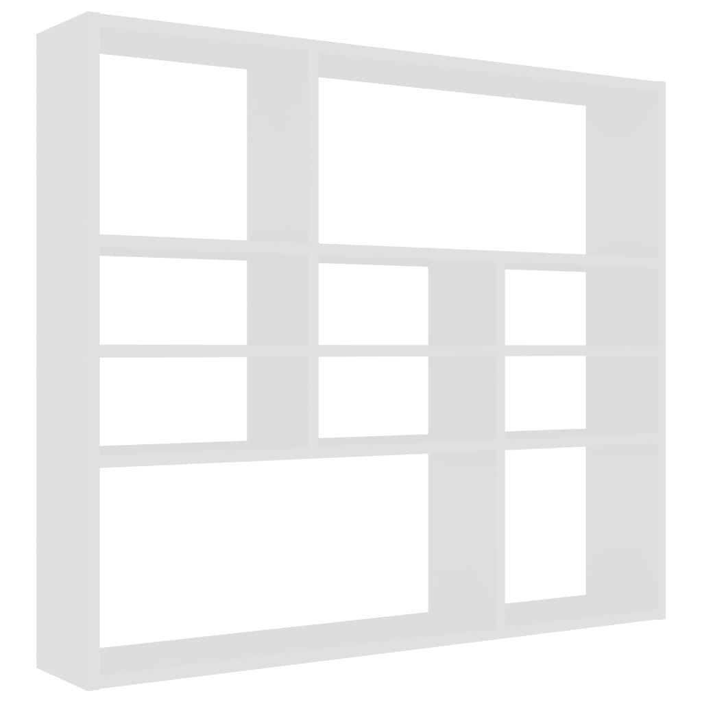 Nástěnná police Abbarch - dřevotříska - 90x16x78 cm | bílá