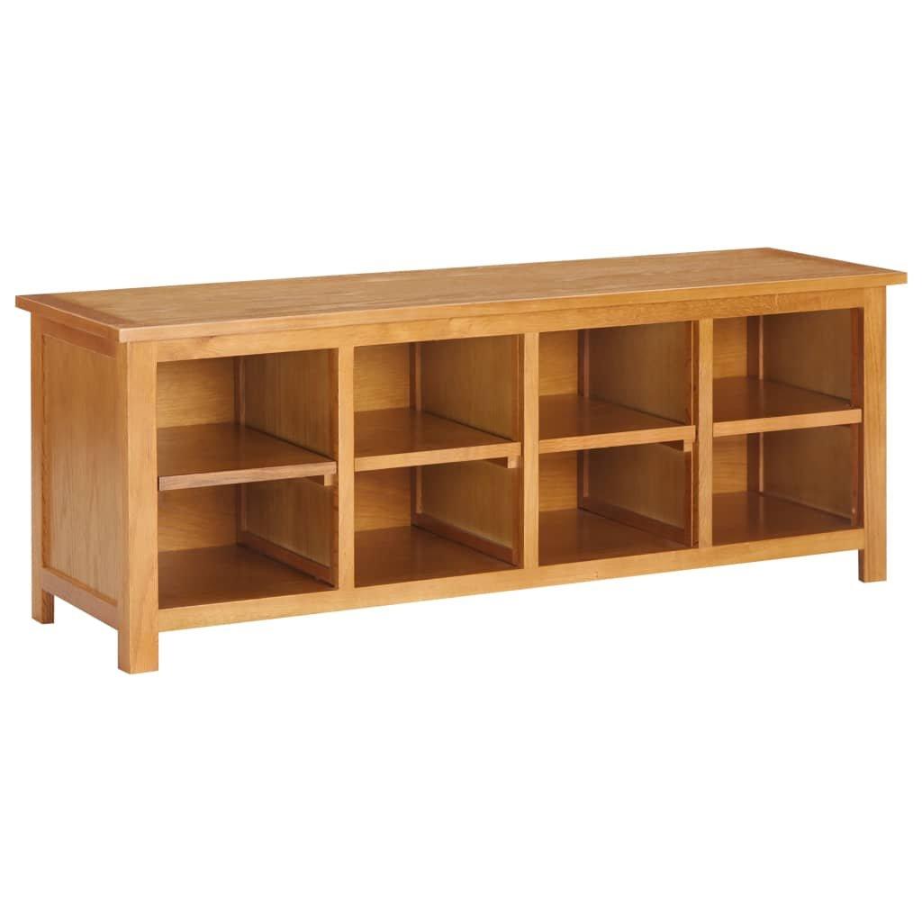Botník Workmore - masivní dubové dřevo a MDF | 120 x 37 x 45 cm