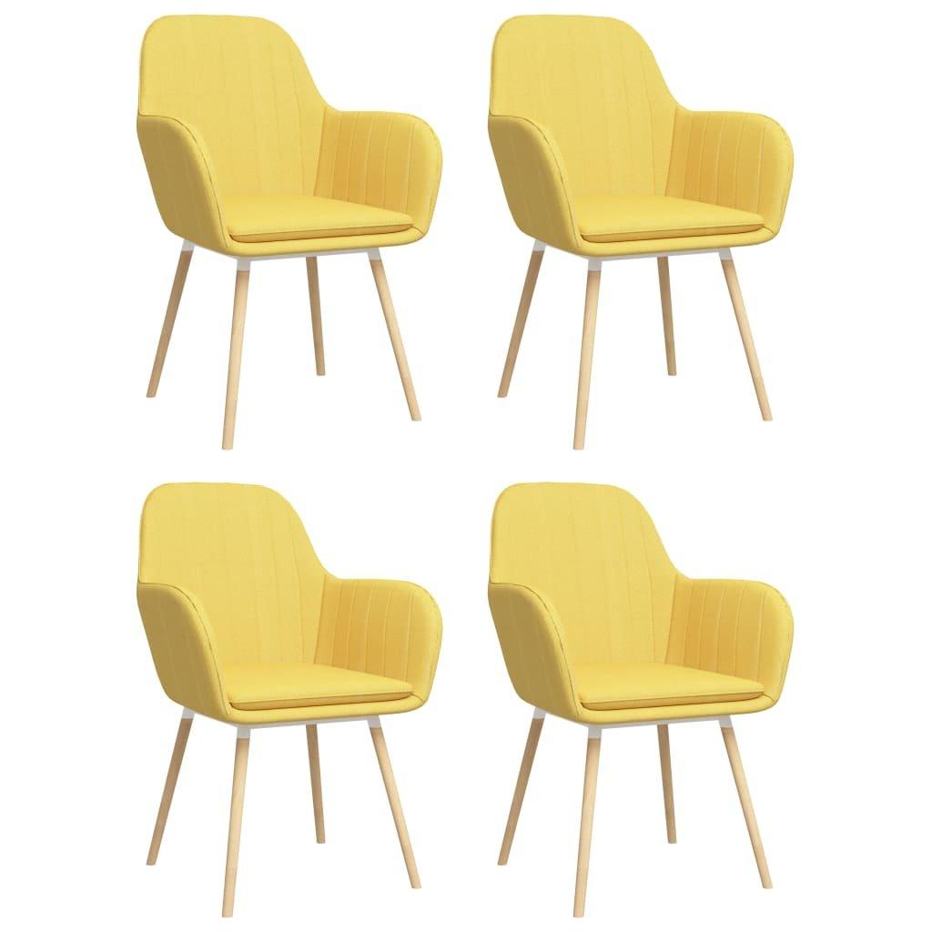 Jídelní židle Buford s područkami - 4 ks   žluté
