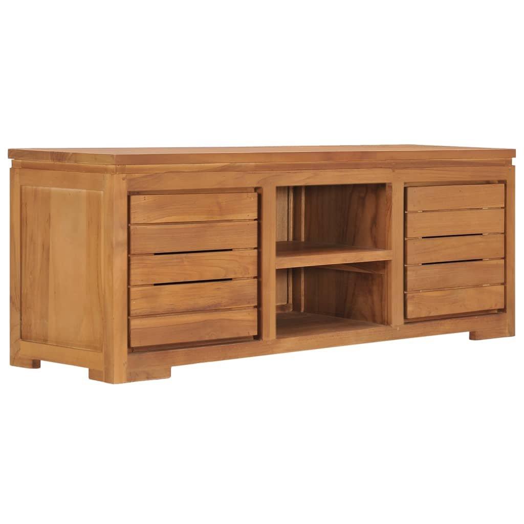 TV stolek Pooler - masivní teakové dřevo   110 x 30 x 40 cm