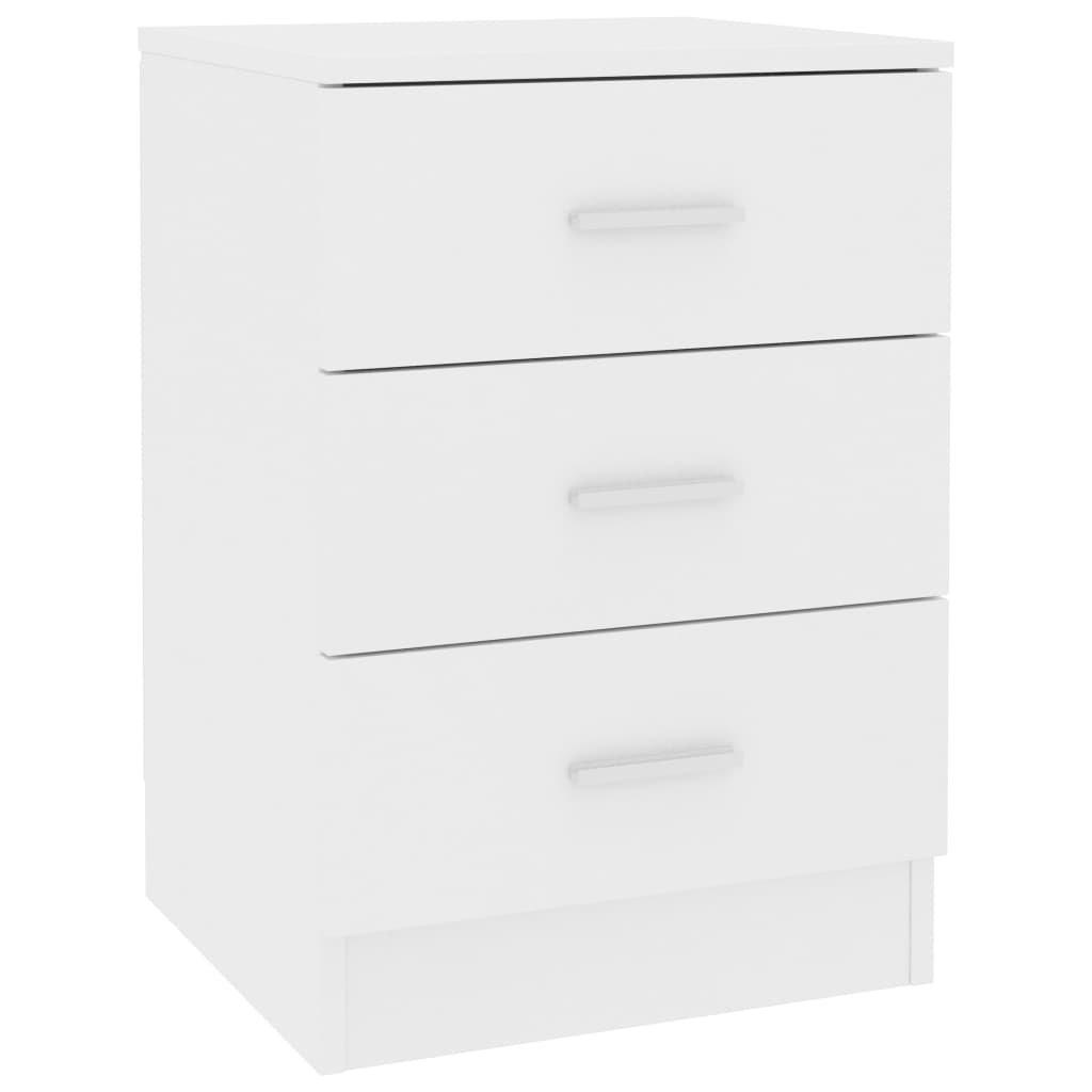 Noční stolek Como - bílý | 38x35x56 cm