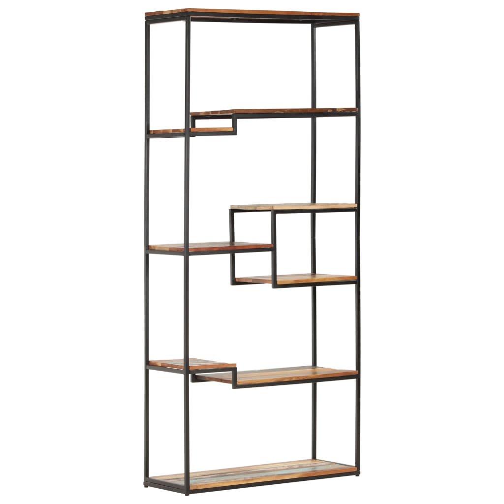 Knihovna Benoit - masivní recyklované dřevo   80x30x180 cm