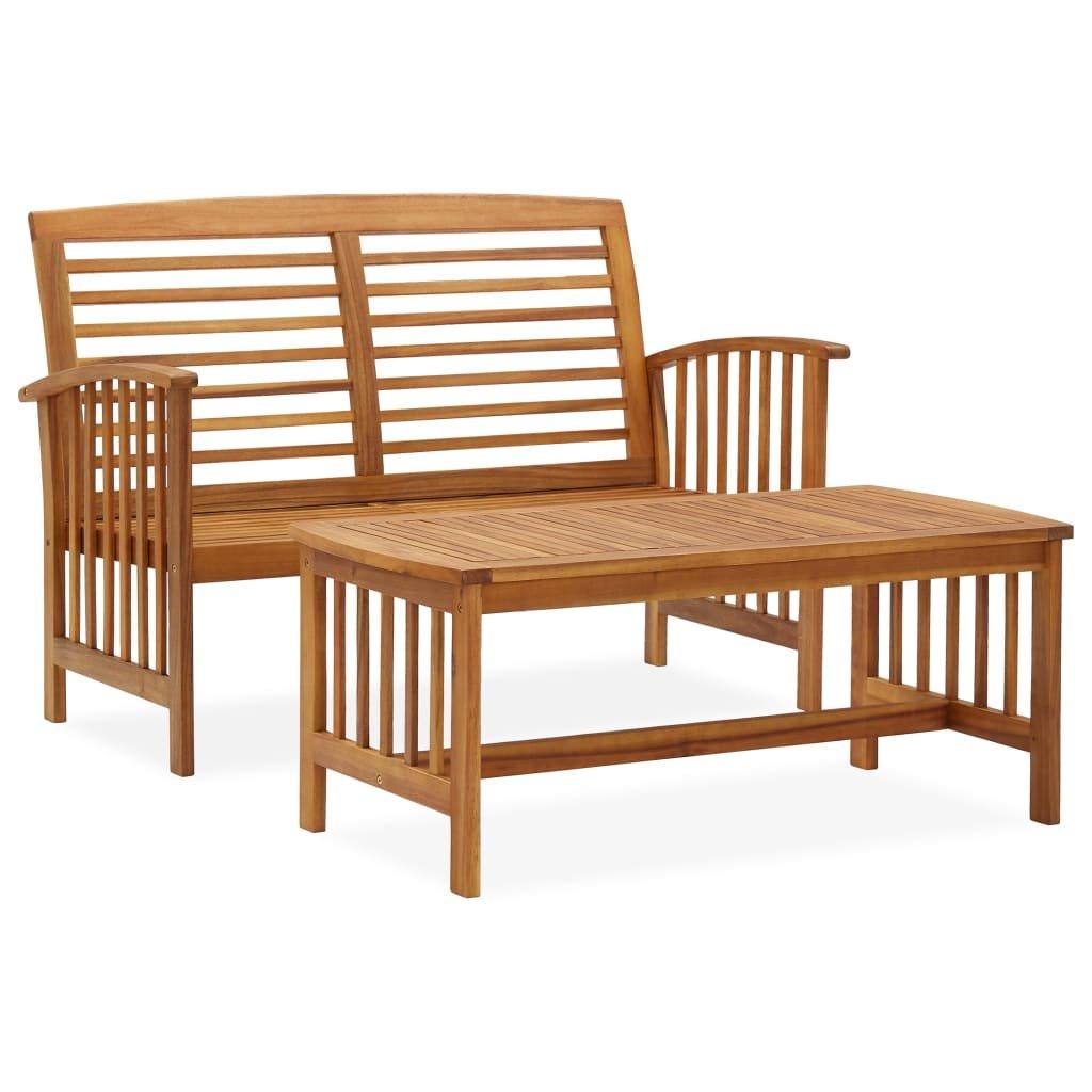 2-dílná zahradní sedací souprava Francis | masivní akáciové dřevo