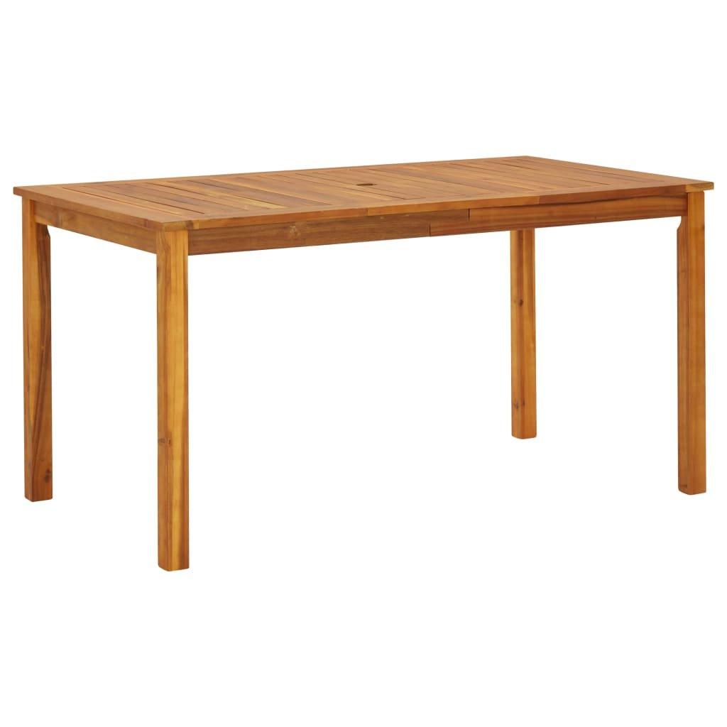 Zahradní stůl Eubank - masivní akáciové dřevo | 140x80x74 cm