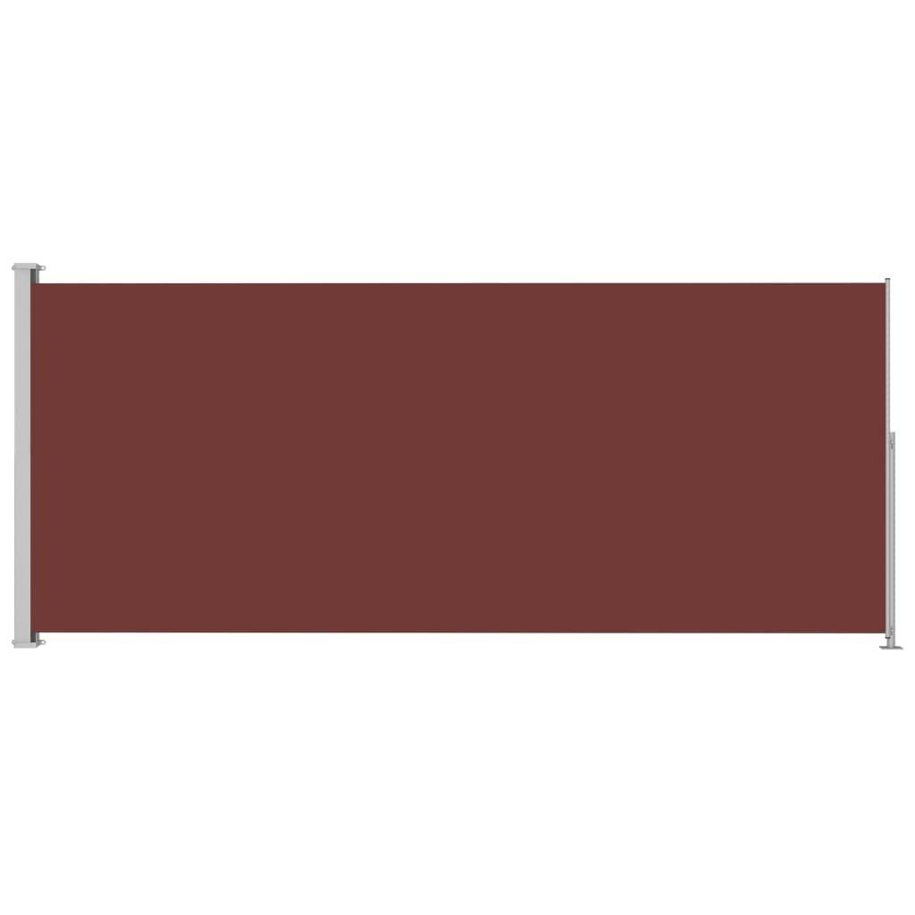 Zatahovací boční markýza - 180x500 cm | hnědá