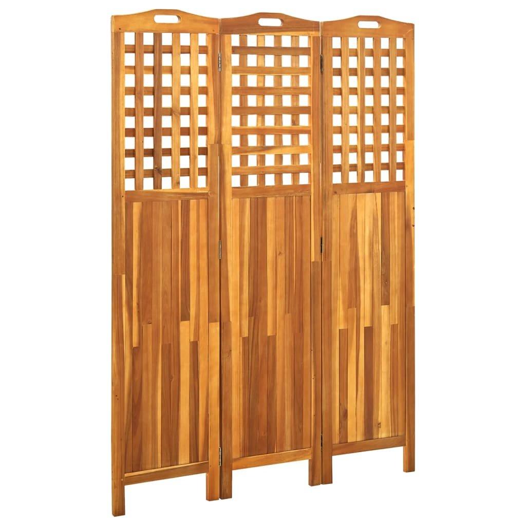 3-dílný paraván Sparro - 120x2x170 cm   masivní akáciové dřevo