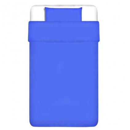 Dvojdílná bavlněná sada povlečení - modrá   155x200/60x70 cm