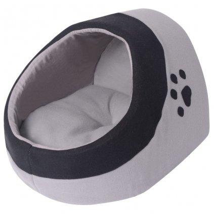 Kočičí pelíšek - šedá a černá   M