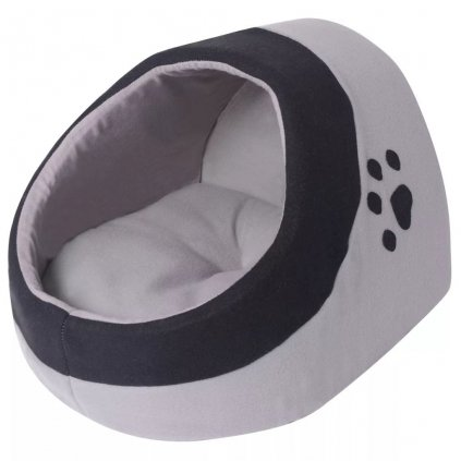 Kočičí pelíšek - šedá a černá | L