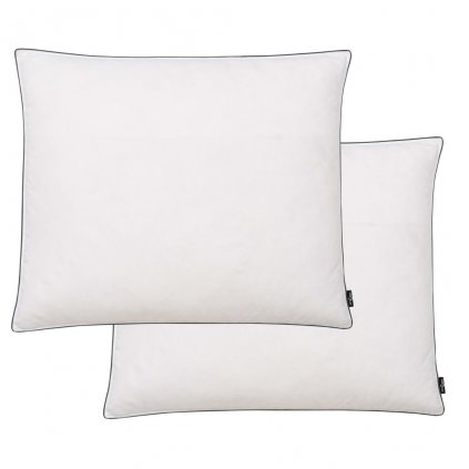 Polštáře 2 ks výplň z prachového peří/peří - těžké - bílé | 70x60 cm