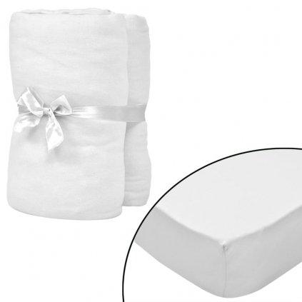 Napínací prostěradla do kolébky - 4ks - bavlna - bílá   60x120cm