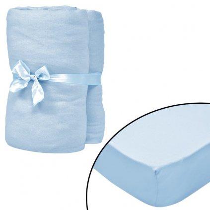 Napínací prostěradla do kolébky - 4 ks - modrá   70x140 cm