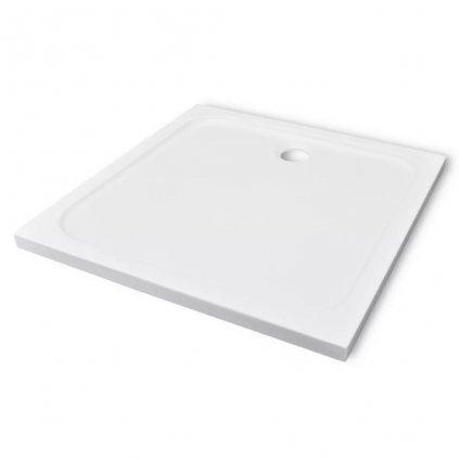 Čtvercová ABS sprchová vanička - bílá | 90x90 cm