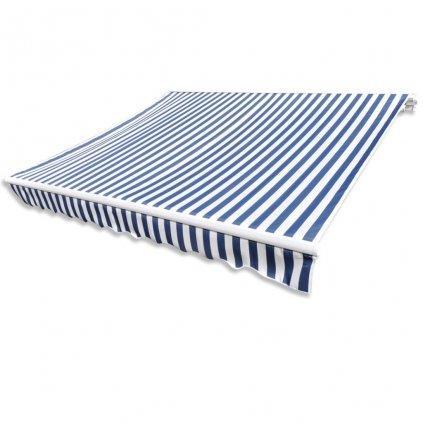 Markýza - plachtovina s modrými a bílými pruhy (bez rámu) | 3x2,5 m