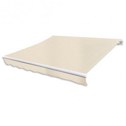 Markýza - 3x2,5 m - plachtovina krémové barvy (bez rámu)