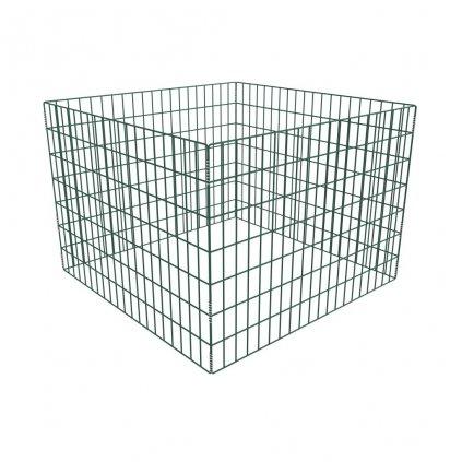Čtvercové zahradní kompostoviště z pletiva | 100x100x70 cm