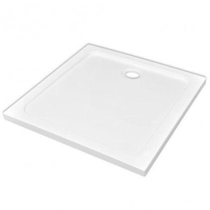 Čtvercová ABS sprchová vanička - bílá | 80x80 cm