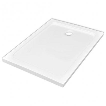 Obdélníková ABS sprchová vanička - bílá | 80x110 cm
