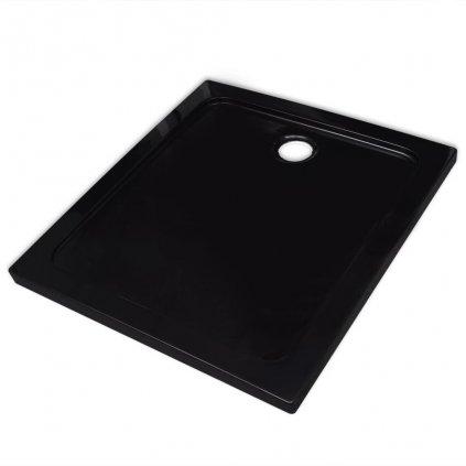Čtvercová ABS sprchová vanička - černá | 80x80 cm