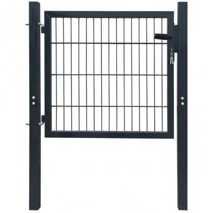 2D plotová branka (jednokřídlá) - antracitově šedá | 106x130 cm