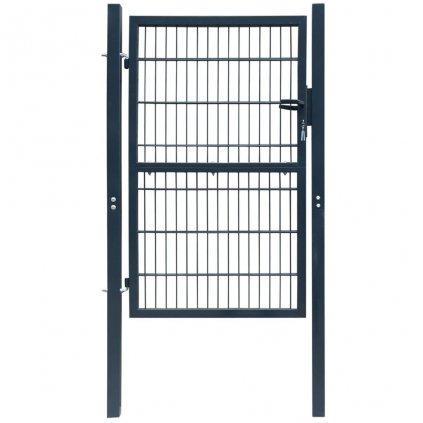 2D plotová branka (jednokřídlá) - antracitově šedá   106x210 cm